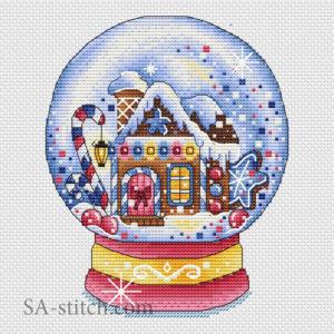 """Схема для вышивки """"Снежный шар конфетный"""""""