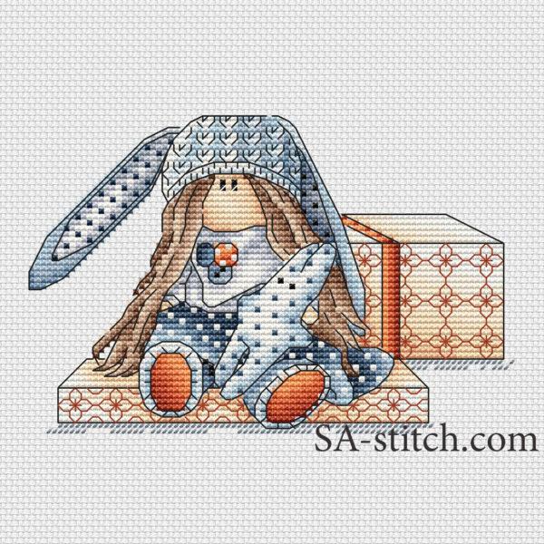"""Схема для вышивки крестом """"Тильда Мила"""""""