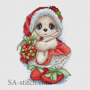 """Схема для вышивки """"Снегурочка"""""""