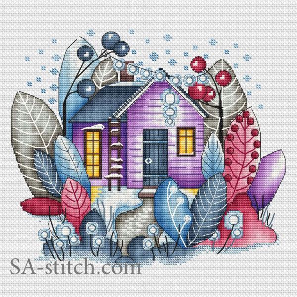 Волшебный зимний домик