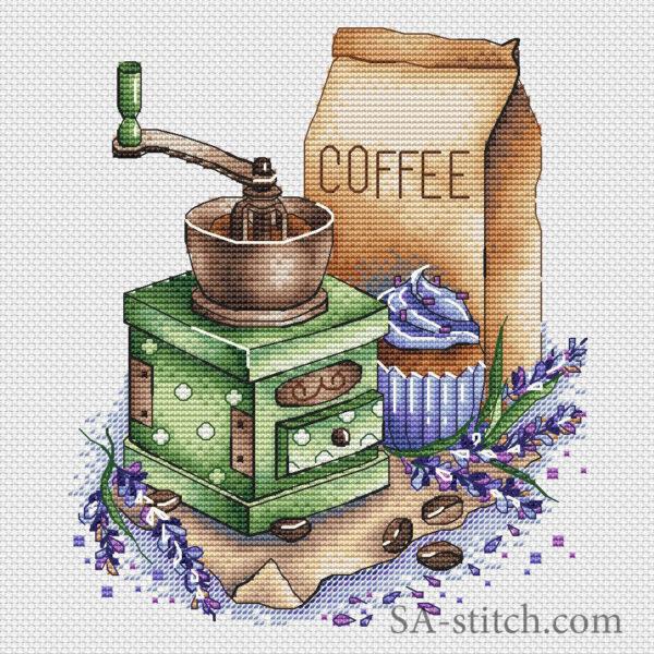 Кофемолка с лавандой