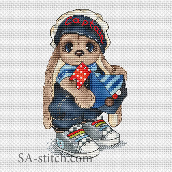 """Схема для вышивки """"Зайка морячок"""""""