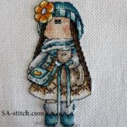 """Схема для вышивки крестом """"Тильда Натали"""". Вышила Заморина Александра"""
