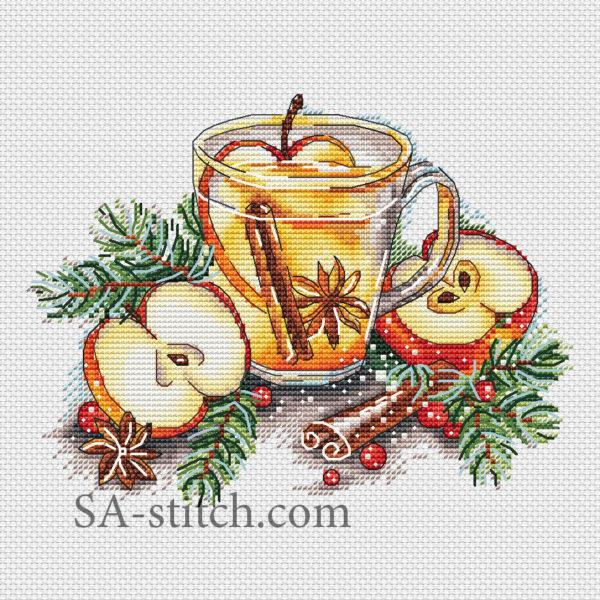 """Схема для вышивки """"Яблочный чай"""""""