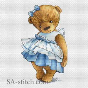"""Схема для вышивки """"Тедди с бантом"""""""