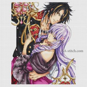 """Схема для вышивки """"Леон и Виолетта"""""""