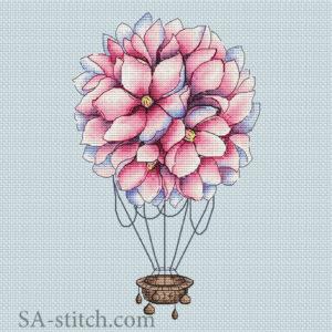 Цветочный воздушный шар