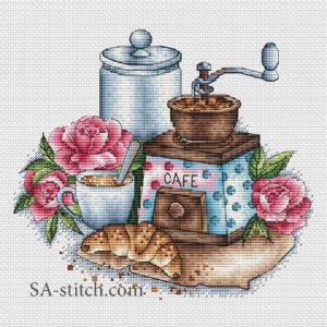Кофемолка с розами