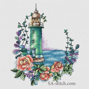 Маяк с розами