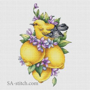 Птичка с лимонами