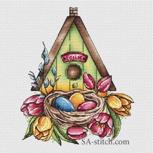 Пасхальный домик для птичек