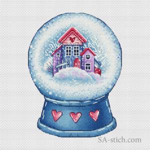 Снежный шар с домиками