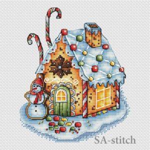Пряничный домик со снеговиком