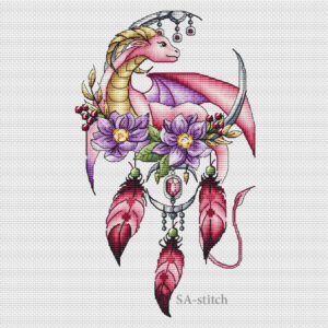 Dreamcatcher with a pink dragon1