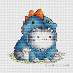 Кот Пирожок - динозавр