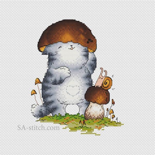 Кот Пирожок грибочек