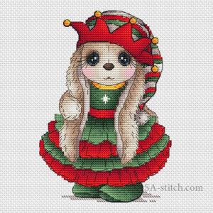 Зайка Рождественский эльф